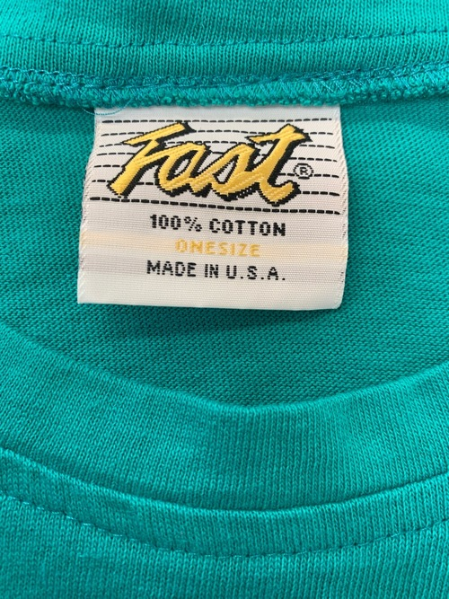 1980's〜 Dead stock over size t-shirt Emerald Green color Made in USA