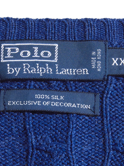 """1990s """"POLO by Ralph Lauren"""" silk indigo knit -INDIGO-"""