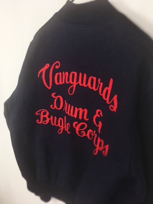 70-80's Varsity Wool Melton Jacket Reedスタジアムジャケット チェーンステッチ