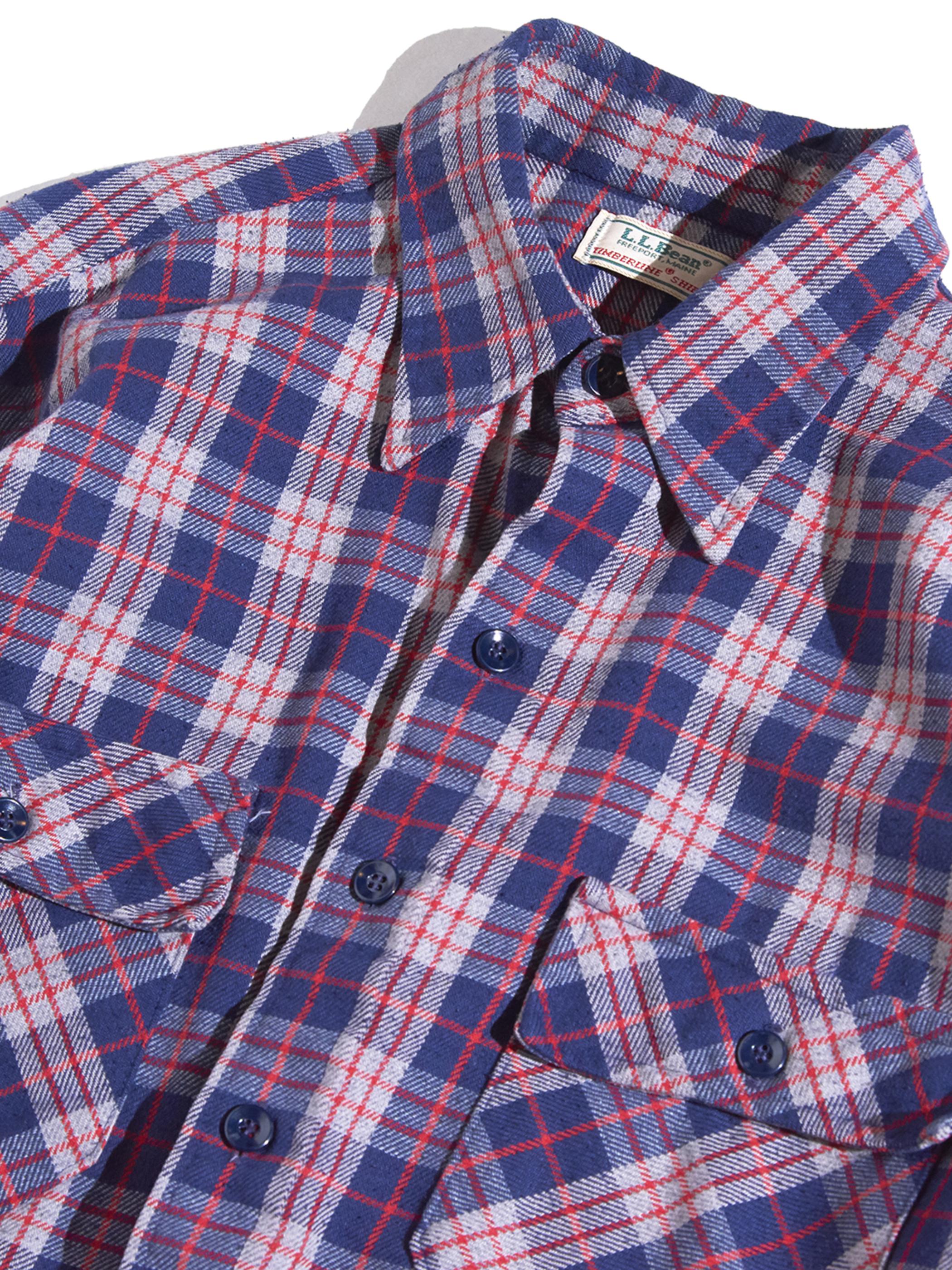 "1980s ""L.L.Bean"" TIMBERLINE®️ SHIRT cotton flannel shirt -CHECK-"
