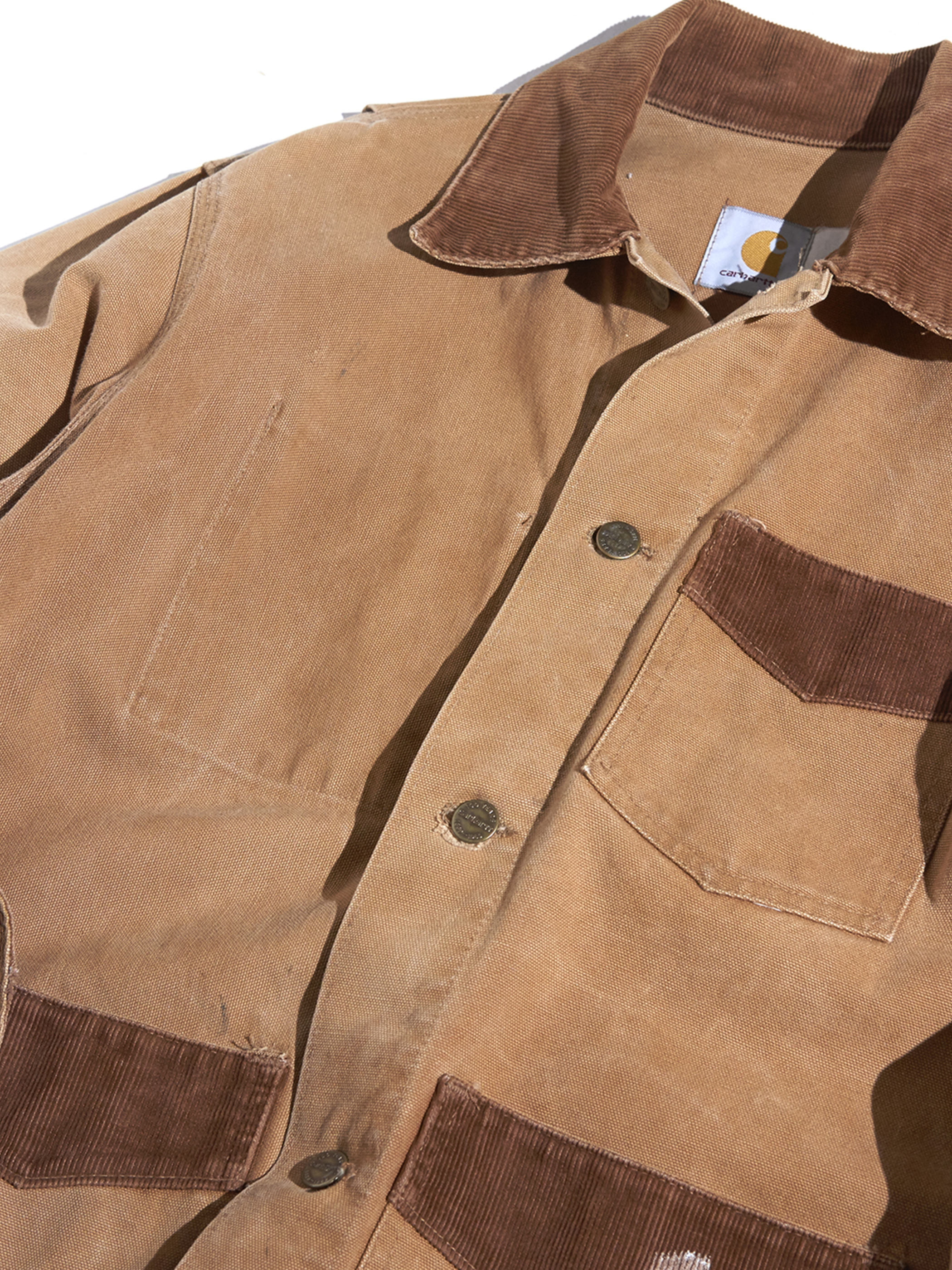 "1970s ""Carhartt"" short length duck coverall -BROWN- <SALE¥16000→¥12800>"