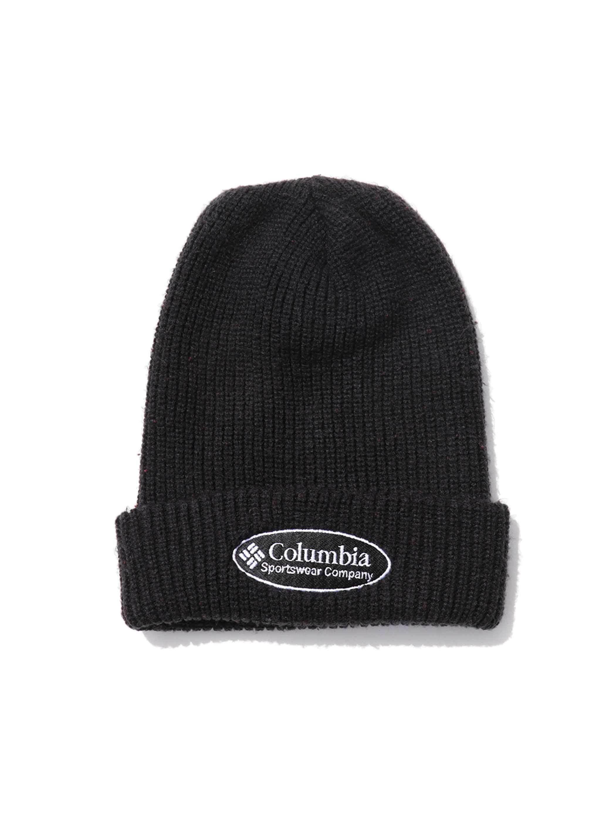 90's COLUMBIA ブラック ニットキャップ [FREE]