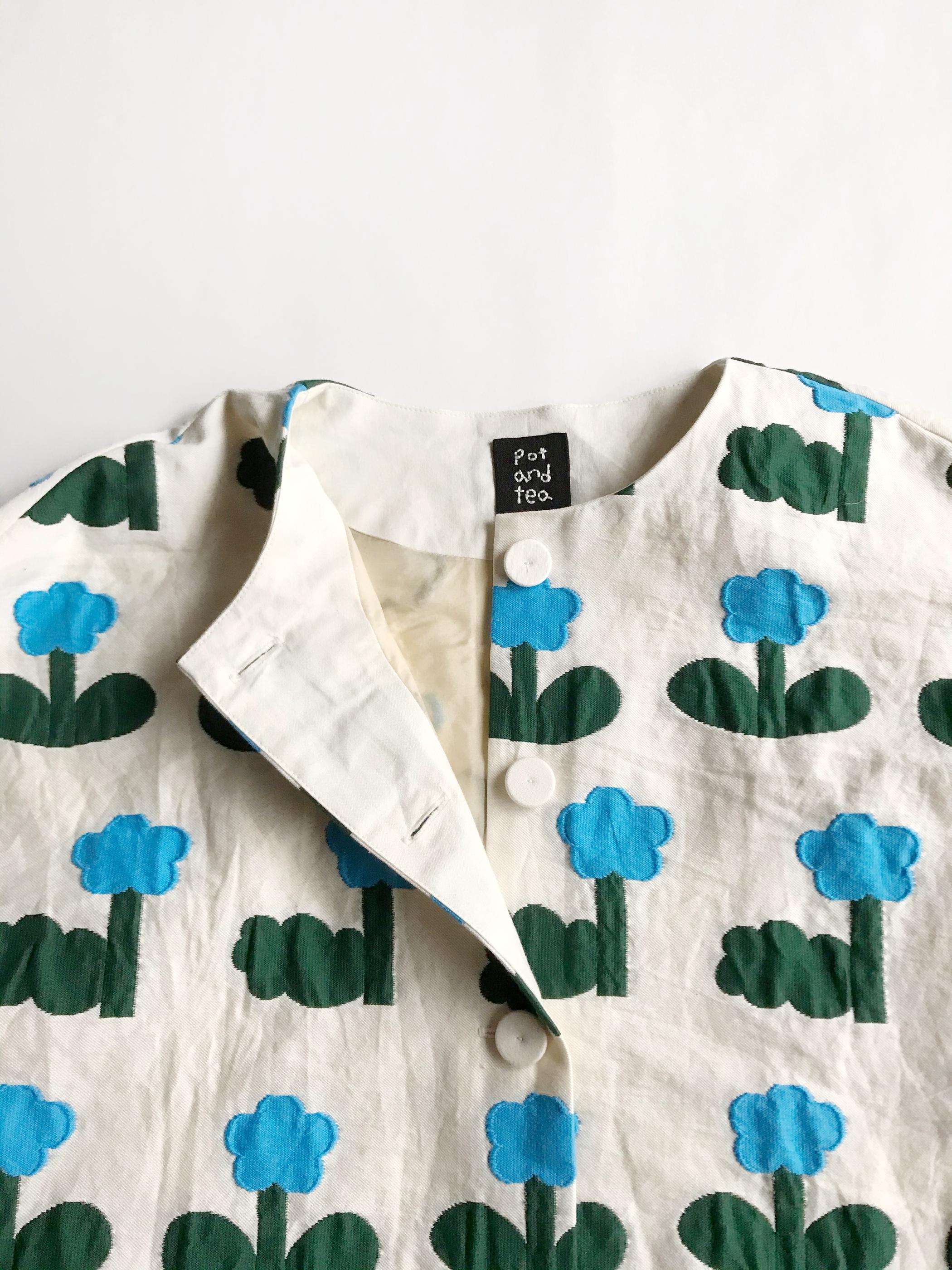 お花ジャガードジャケット
