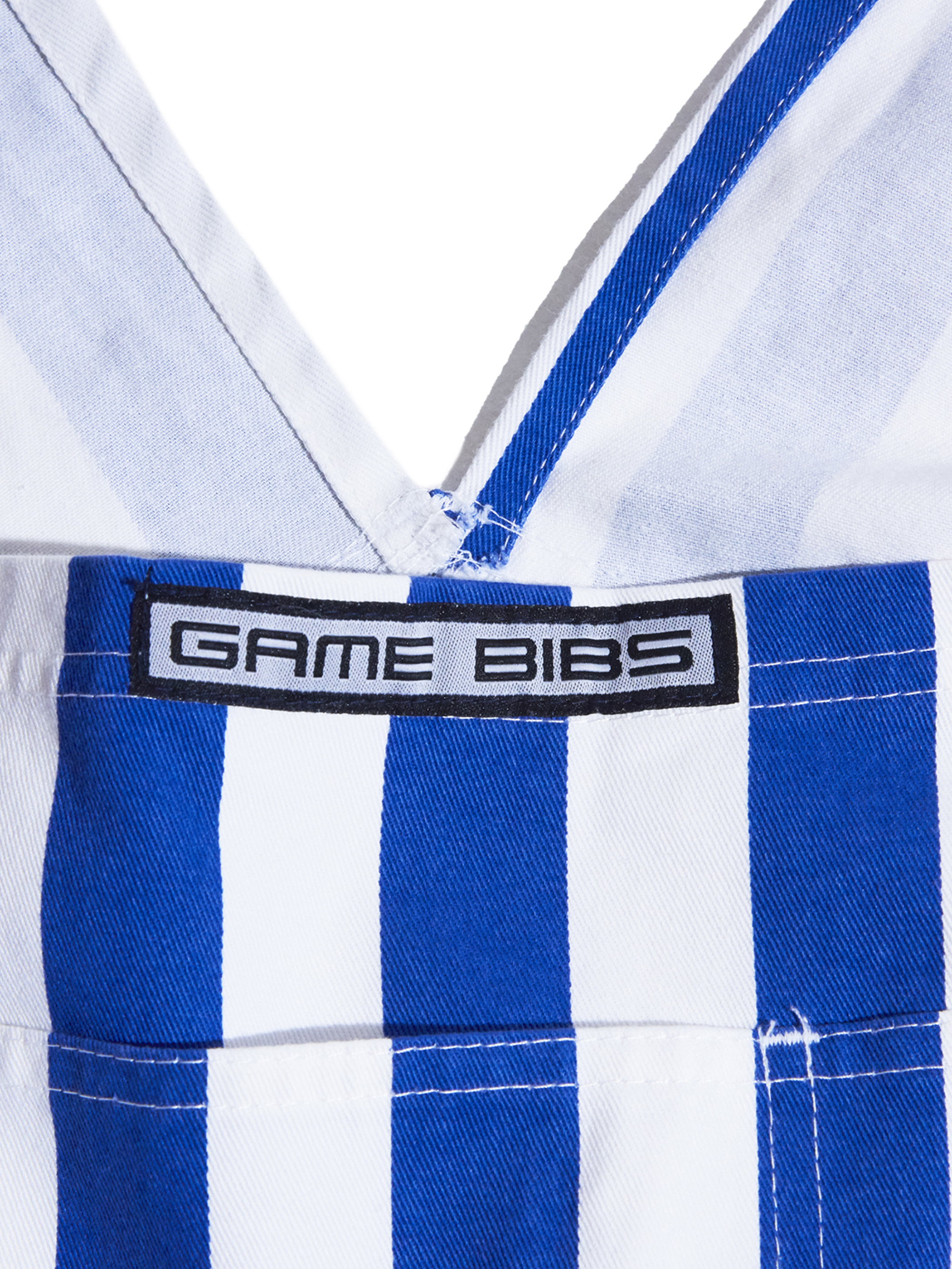 "2000s ""GAME BIBS"" stripe overall -BLUE×WHITE-"
