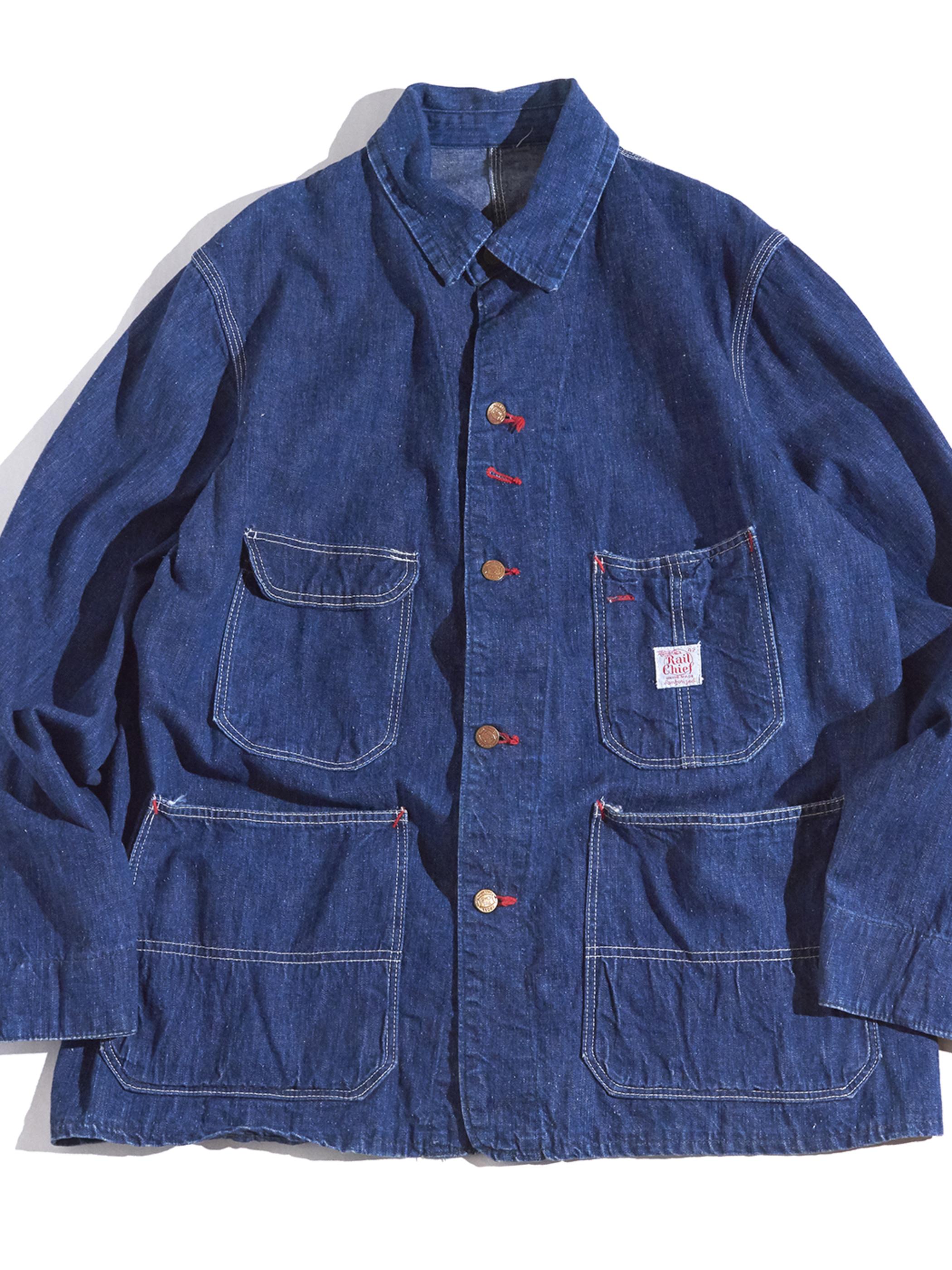 "1950s ""Rail Chief"" denim coverall jacket -BLUE-"