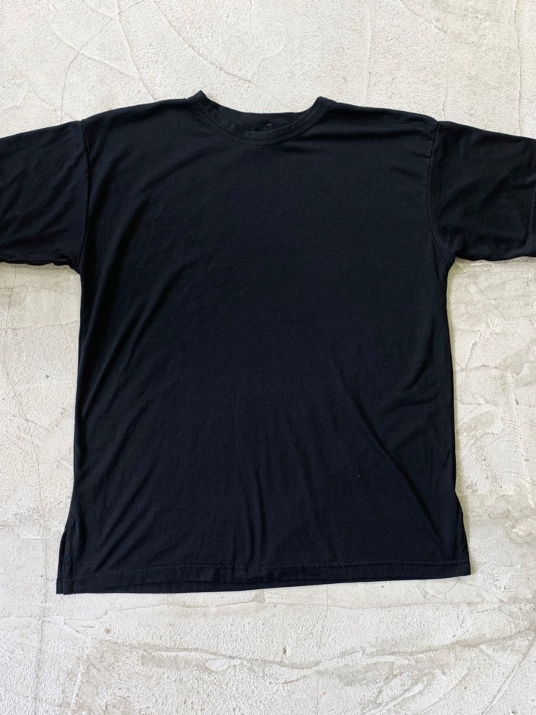 1980's〜 Dead stock over size t-shirt Black color Made in USA