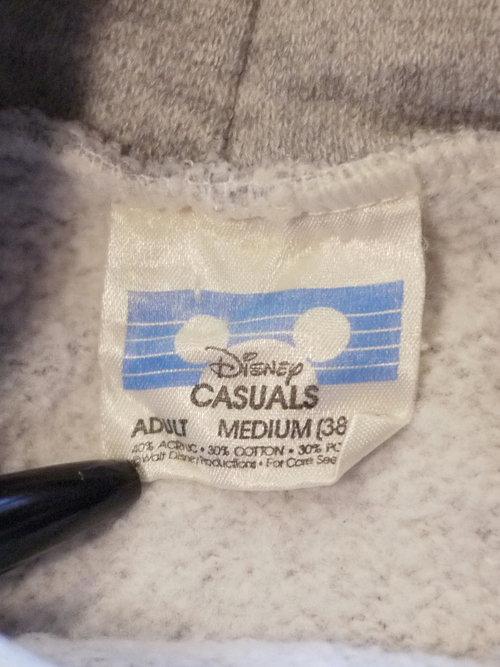 "Disney 1980's Sweat parka SizeM ""MICKEY"""