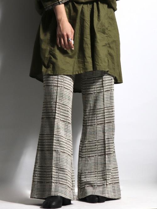 1980's check flare pants