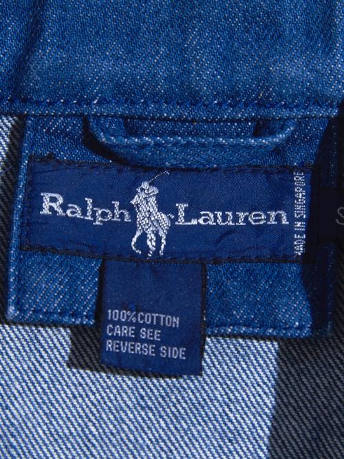 "1980s ""Ralph Lauren"" denim work jacket -BLUE-"