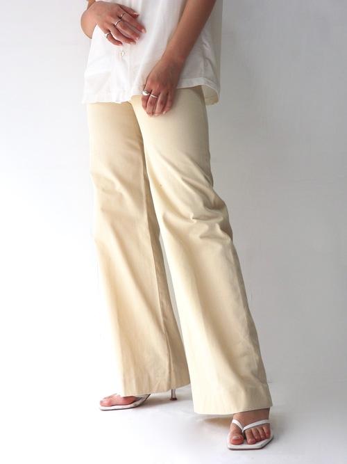 Cotton flare pants