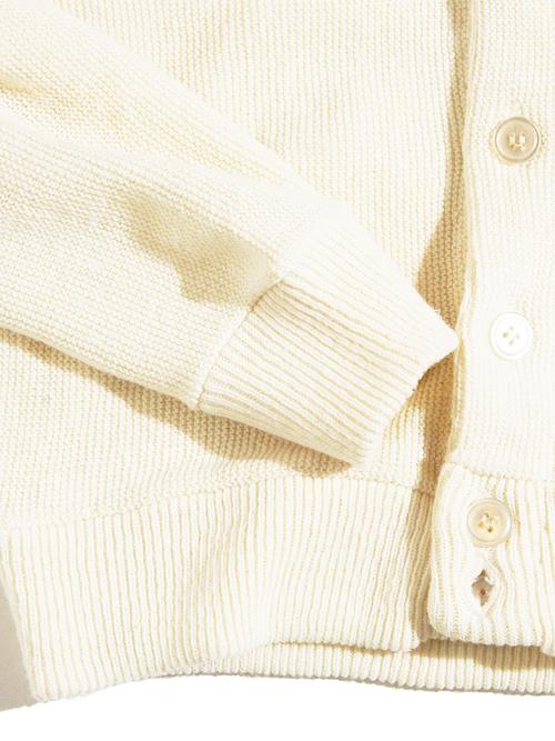 "1970s ""Poke-R"" acrylic knit cardigan -WHITE-"