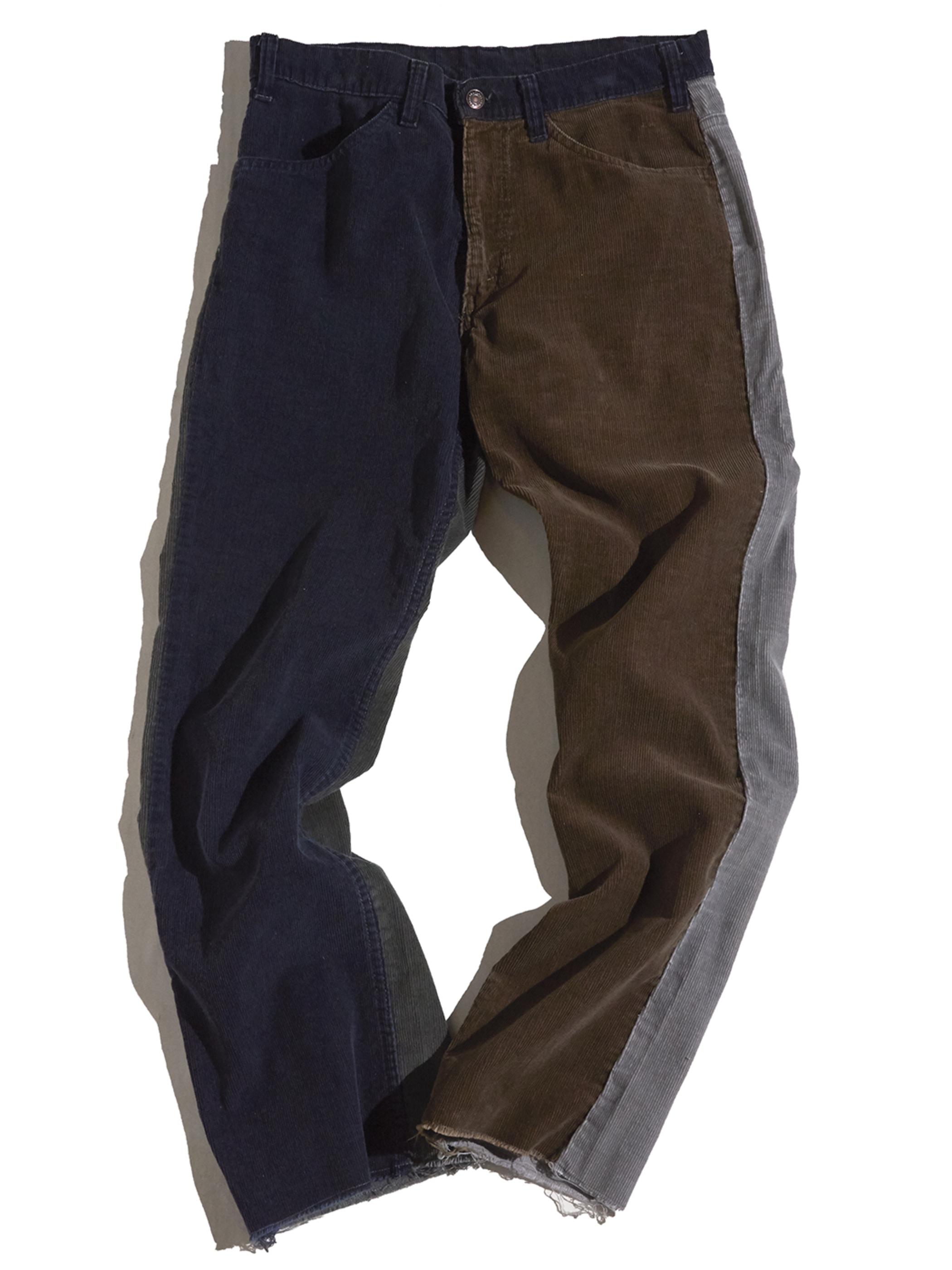 "1980s ""Levi's"" custom mede crazy pettern 519 corduroy pants #14"