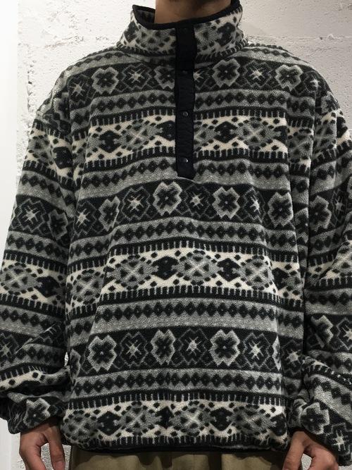 "L.L.Bean fleace pullover ""fair isle pattern"""