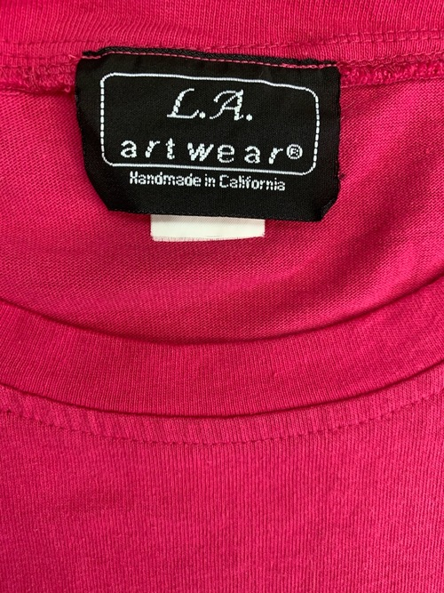 1980's Dead stock over size t-shirt Pink color Made in USA