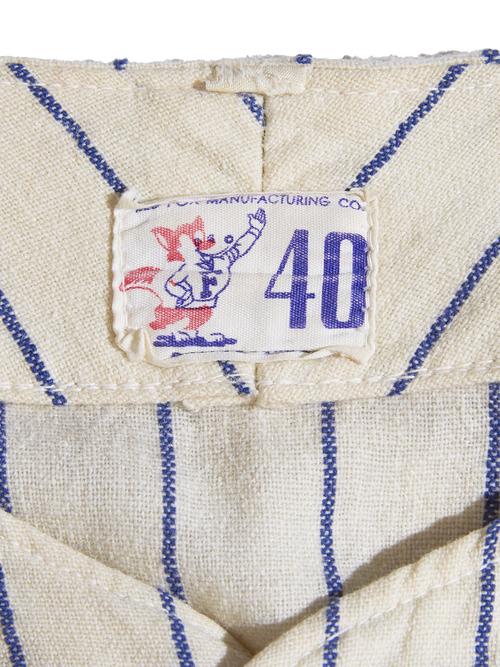 "1950s ""RED FOV MANUFACTURING Co."" s/s wool baseball shirt -ECRU-"