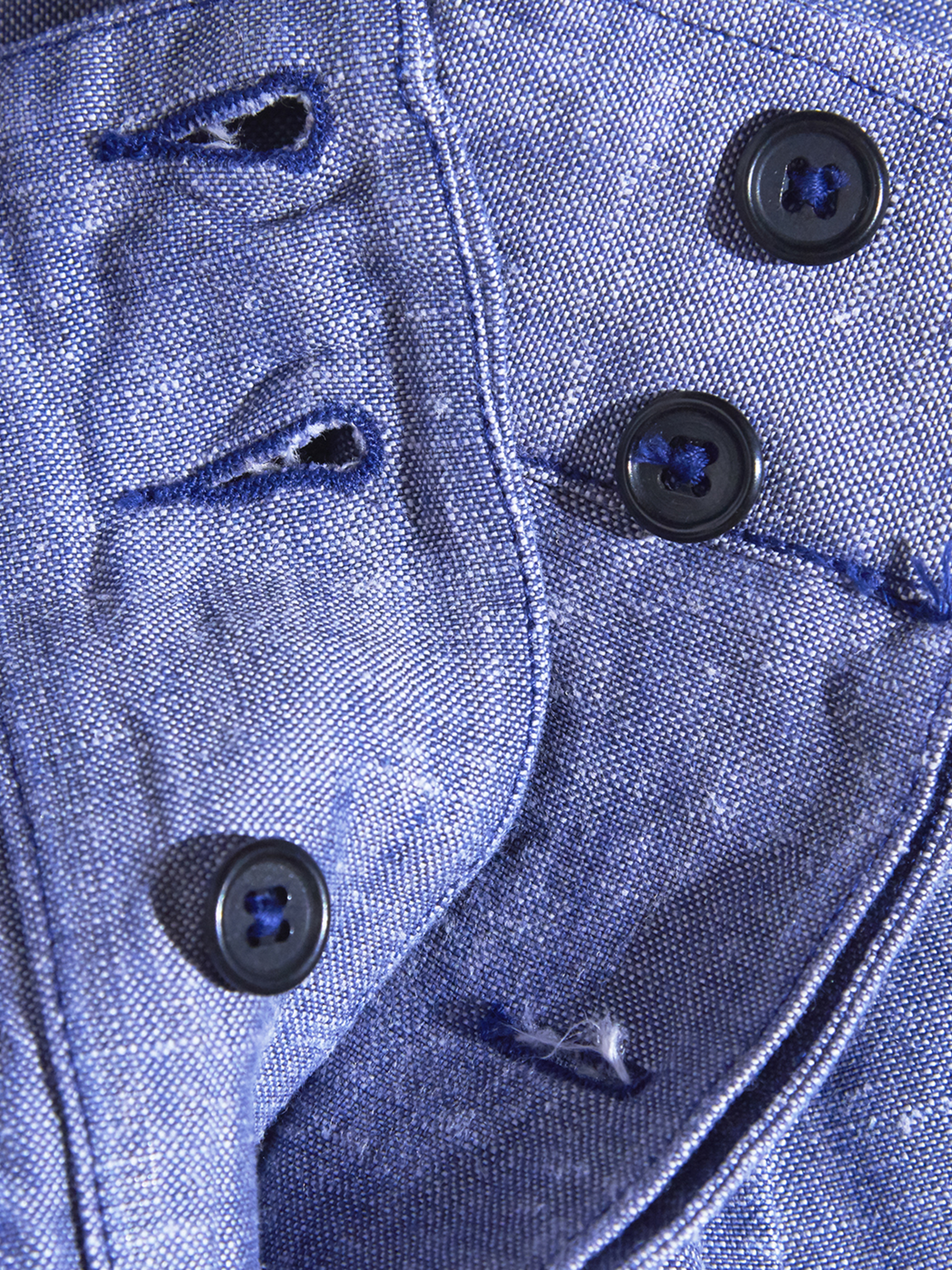 """1950s """"French Navy"""" linen shorts -SAX-"""