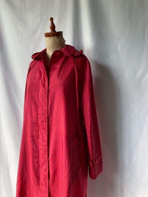 hooded nylon coat
