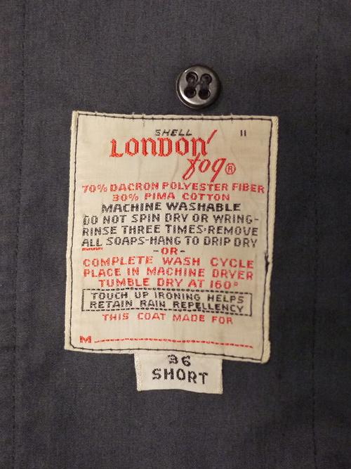 LONDON FOG 1960~70's Balmacaan Coat Size36 SHORT