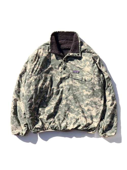 "00's PATAGONIA ""ACU DIGITAL CAMO"" Reversible Snap-T Special [About L]"
