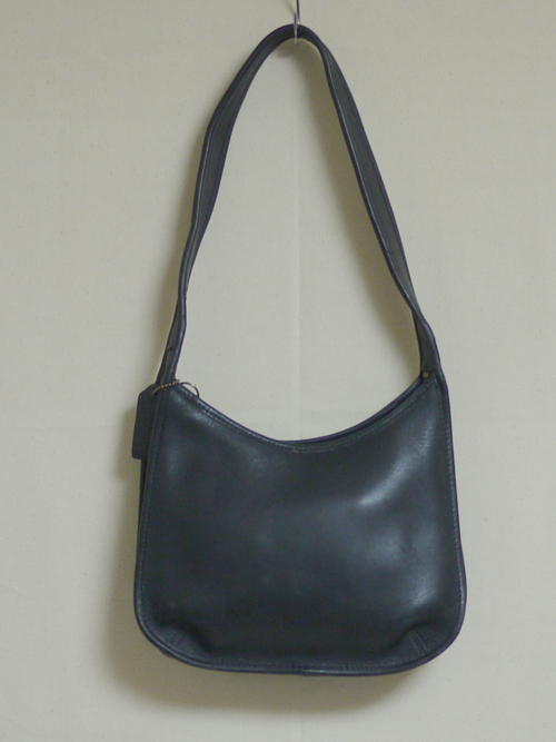 "Old COACH Leather One shoulder Bag ""Black"""