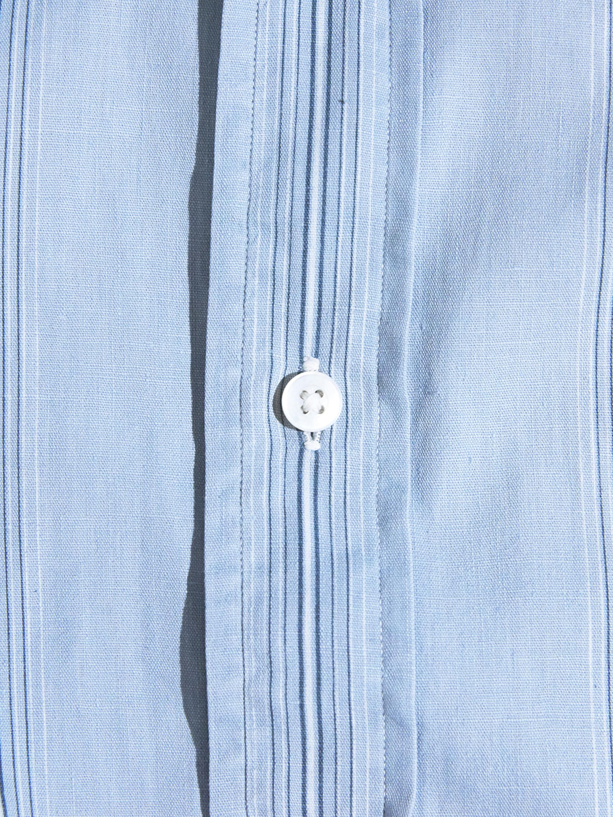 "1950s ""marlboro"" woven stripe shirt -SAX- <SALE¥20000→¥16000>"