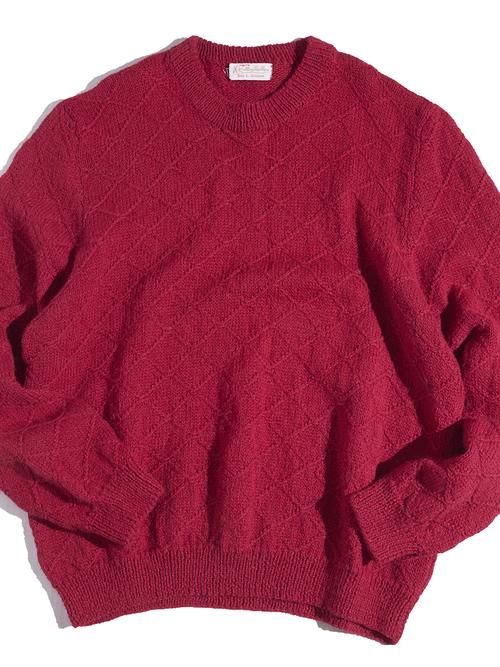 """1970s """"Karlling Needler"""" wool hand knit -PINK-"""