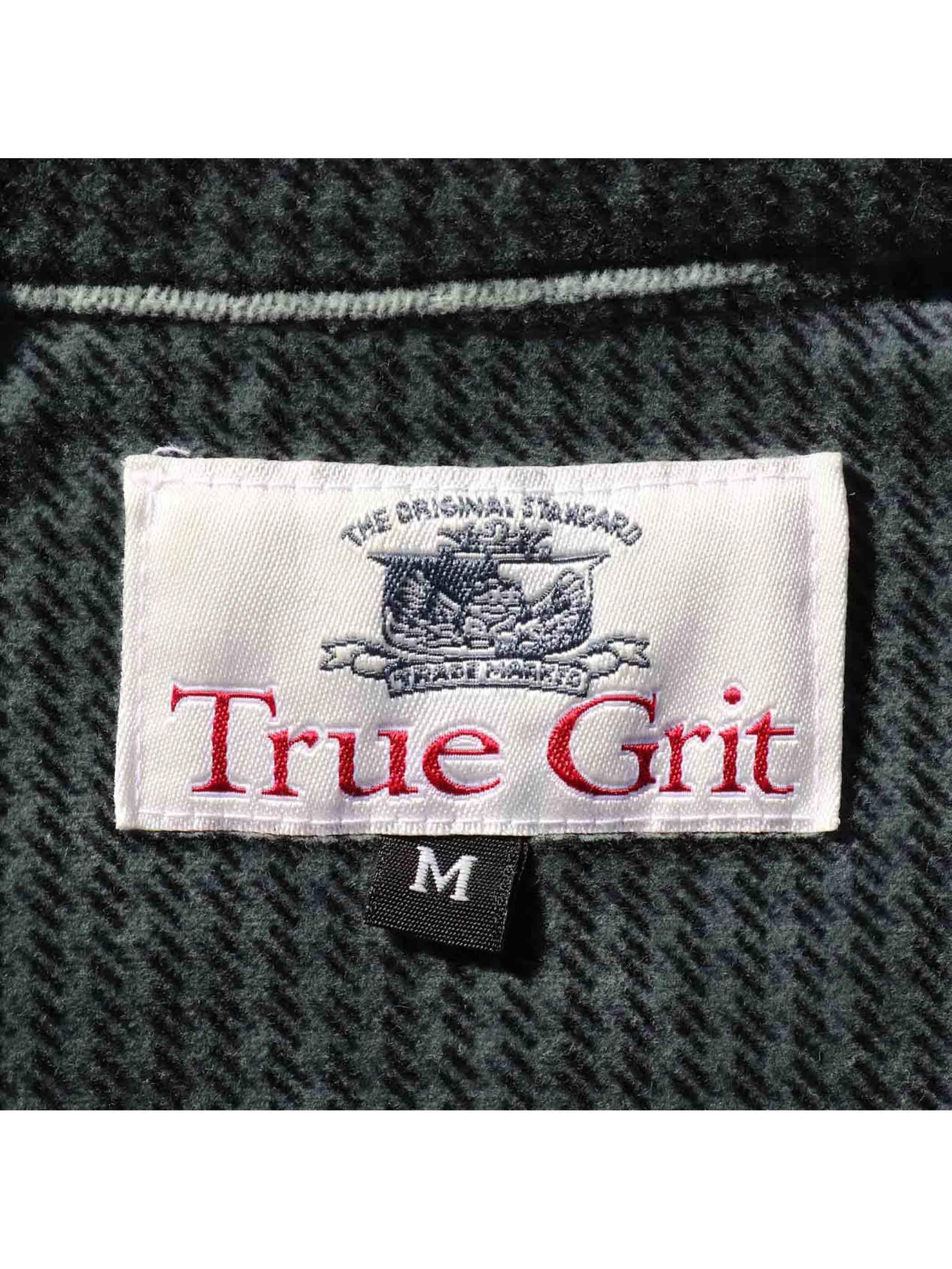90's TRUE GIFT USA製 ハウンドトゥース ベルベットシャツ [M]