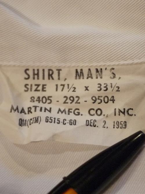 U.S.Marine Corps 1960's Cook Uniform Size17 1/2