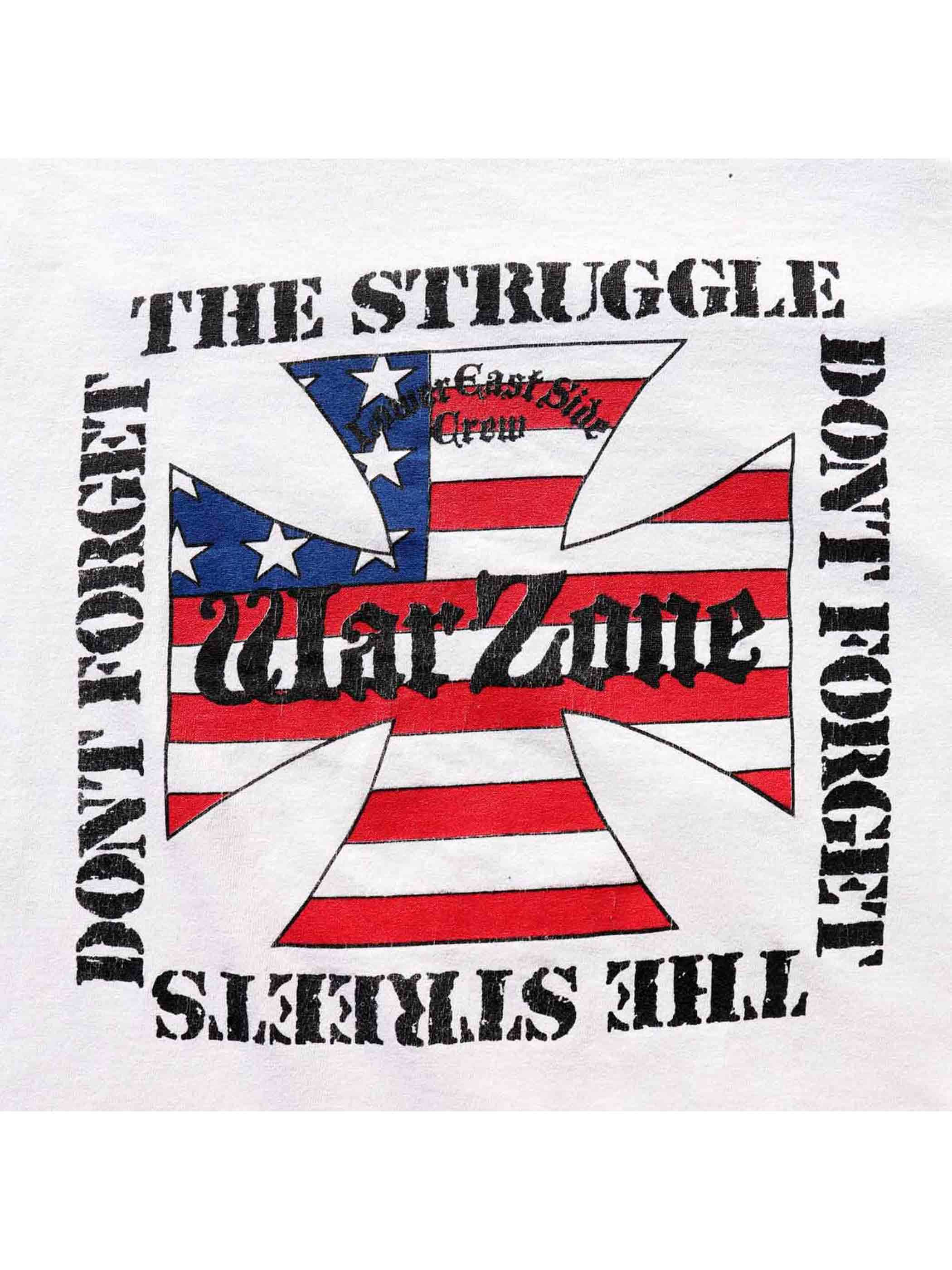"00's WARZONE ""DON'T FORGET THE STRUGGLE / LOWER EAST SIDE CREW"" L/S Tシャツ [About L]"