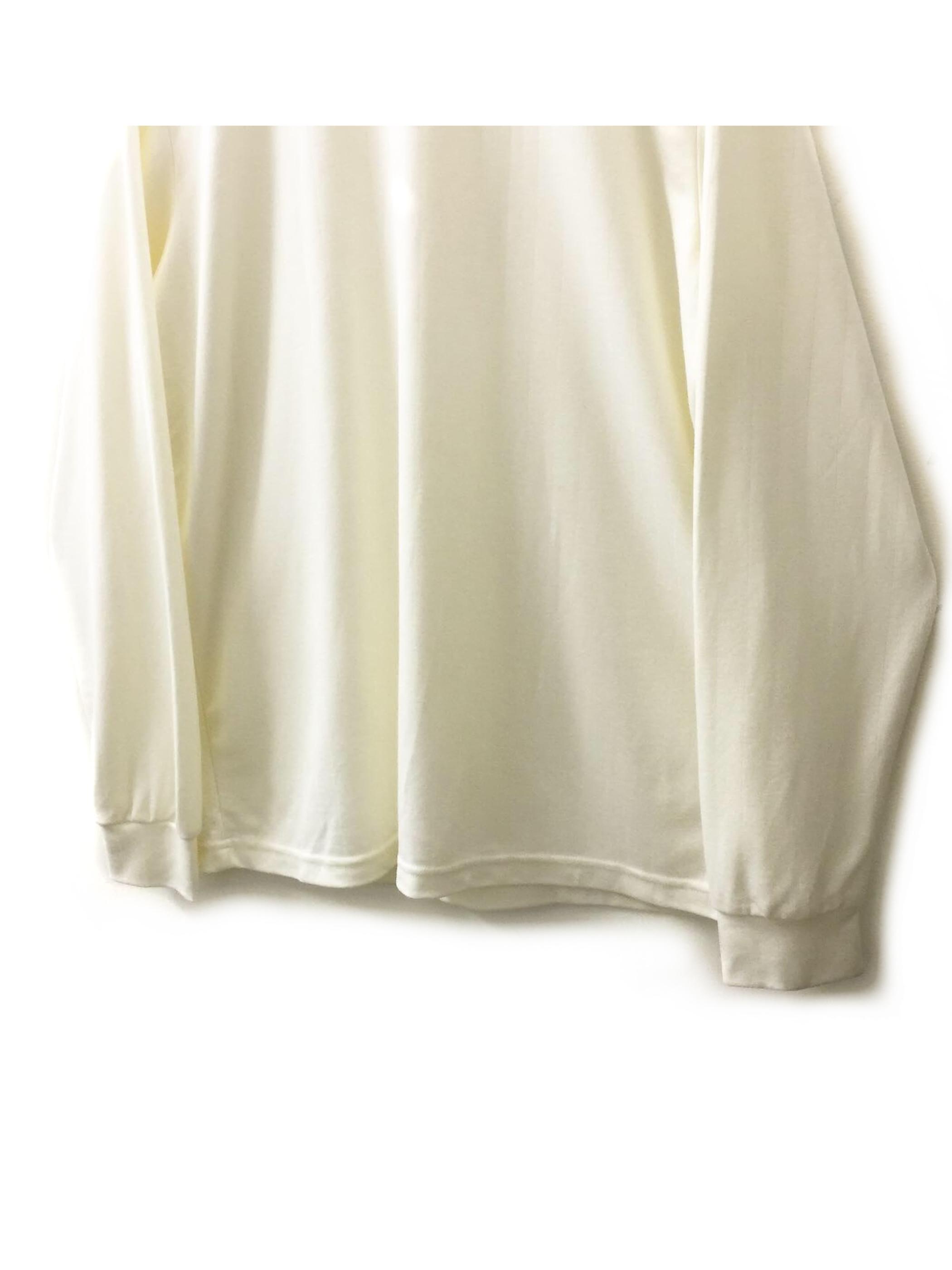 Tricolore モックネック カットソー ホワイト色