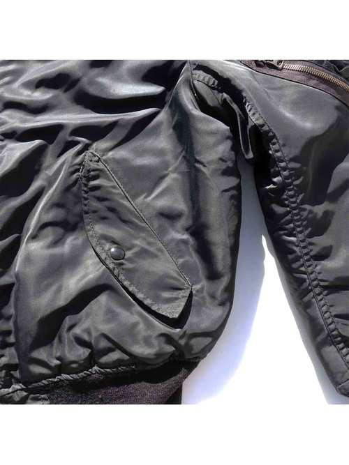 "90s~ ALPHA INDUSTRIES ""MIL-J-82790J"" パッチカスタム ブラック MA-1 [M]"