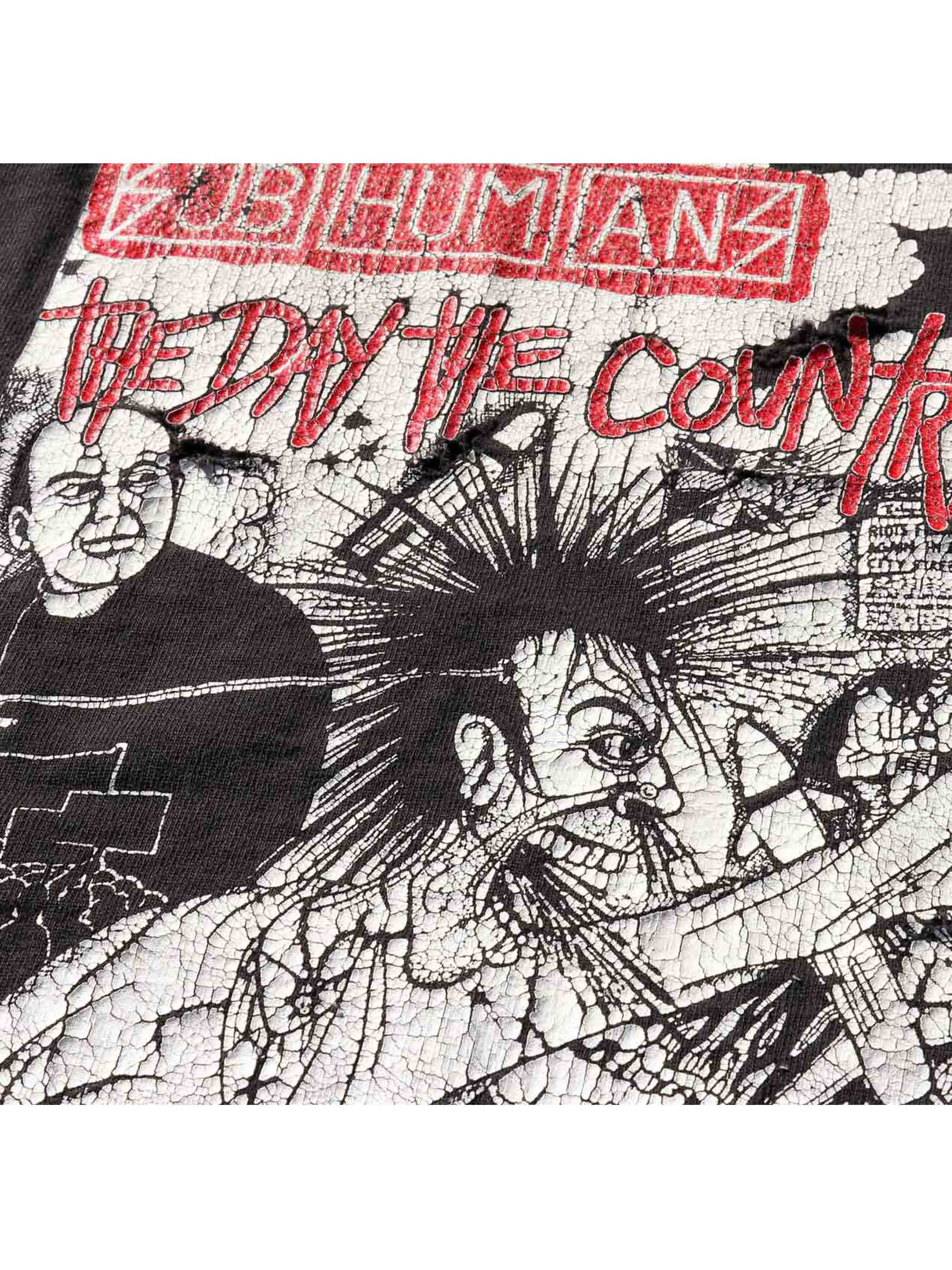 "90's SUBHUMANS ""THE DAY THE COUNTRY DIED"" ダメージTシャツ [XL]"