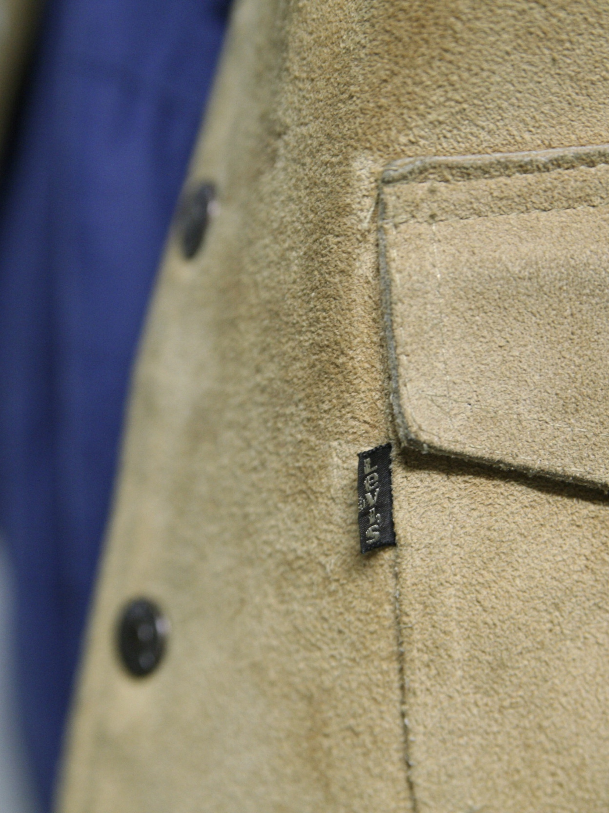 "1970s ""Levi's"" suede leather vest -BEIGE-"