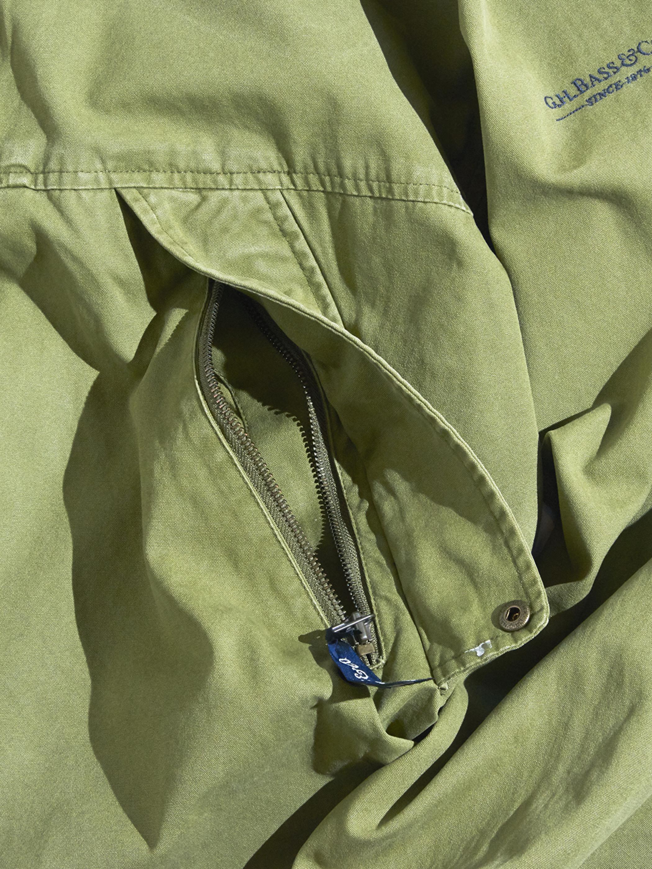 "1990s ""G.H.BASS & Co."" cotton anorak parka -OLIVE-"