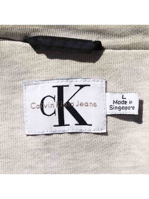 90's CALVIN KLEIN JEANS コットン/ナイロンポプリン フィールドパーカー [L]