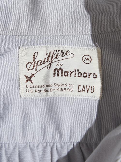 """1940s """"marlboro"""" slanting zip twill shirt -GREY-"""