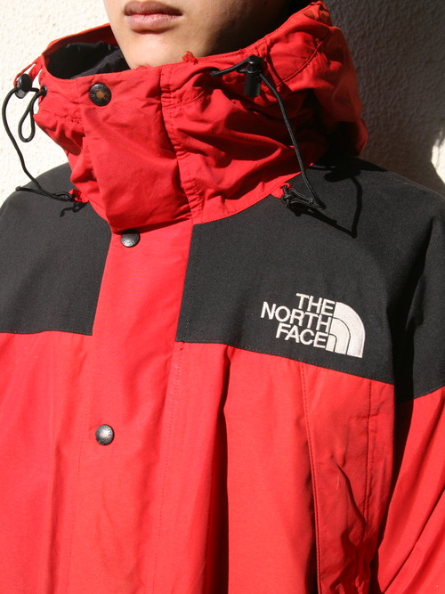 "1990s ""THE NORTH FACE"" mountain guide jacket -RED-"