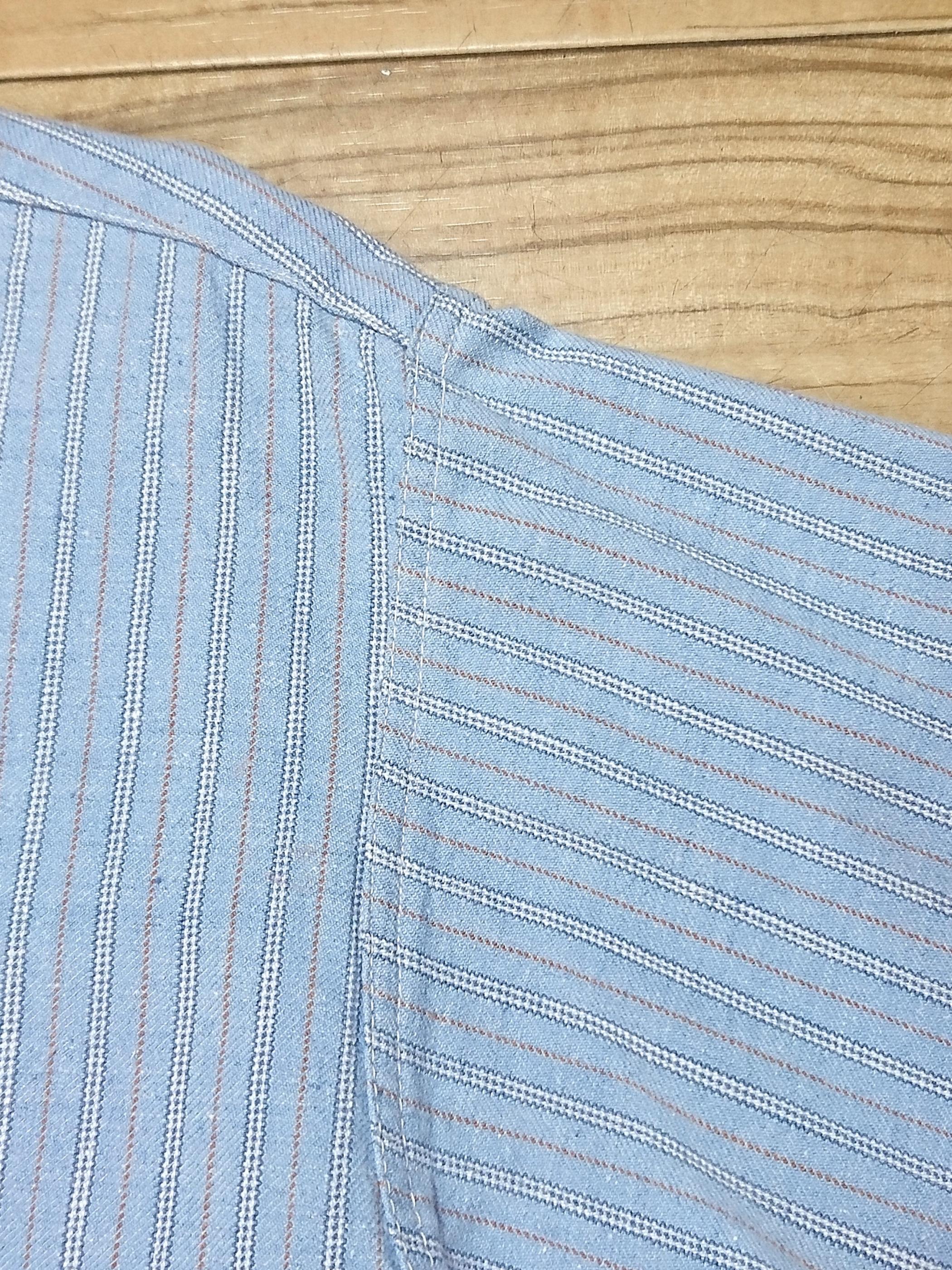 FRENCH Vtg / Pull over stripe atelier shirt