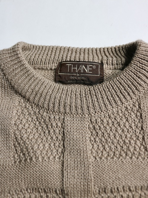 1970~80's THANE Check knit