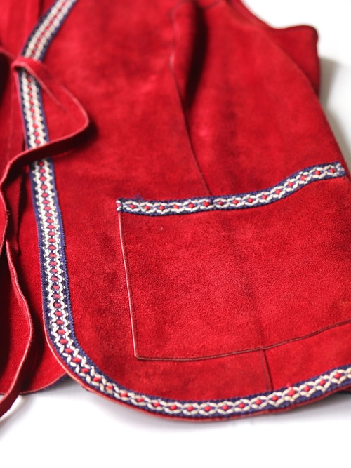 Suède leather vest