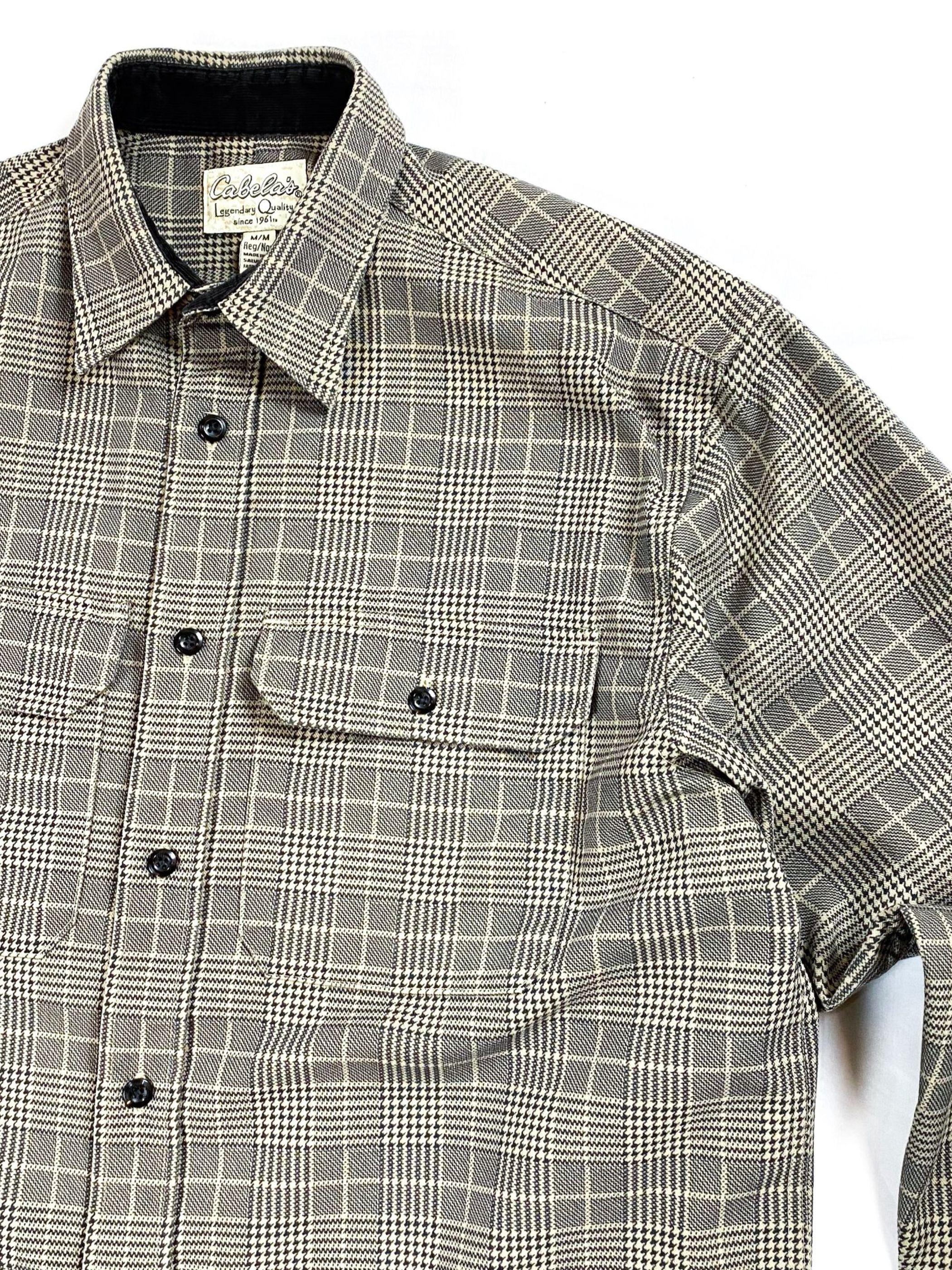 Cabela's glen check shirt