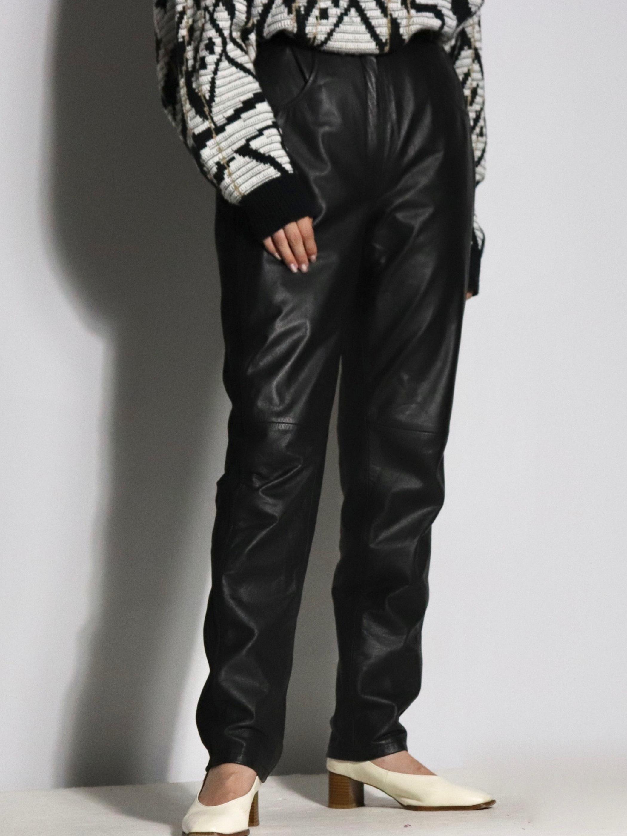 Euro lib switching leather pants