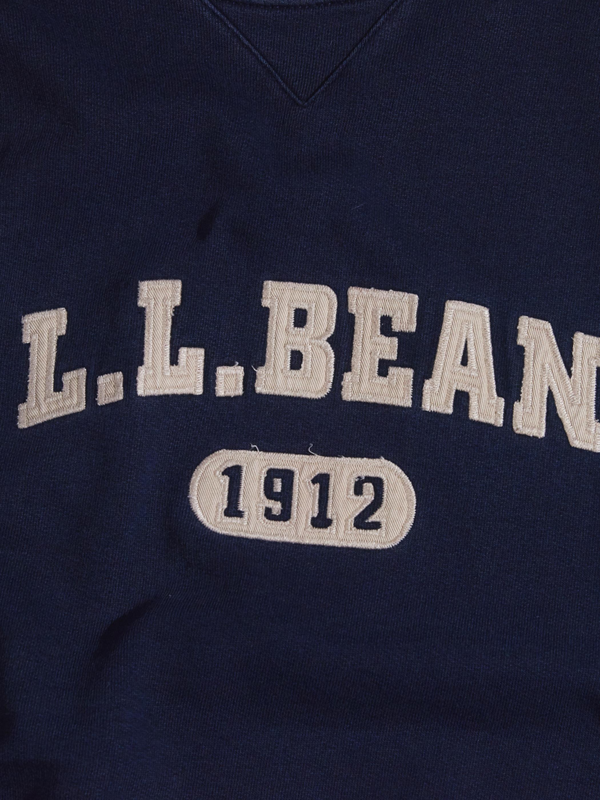 "1990s ""L.L.Bean"" logo sweat -NAVY-"