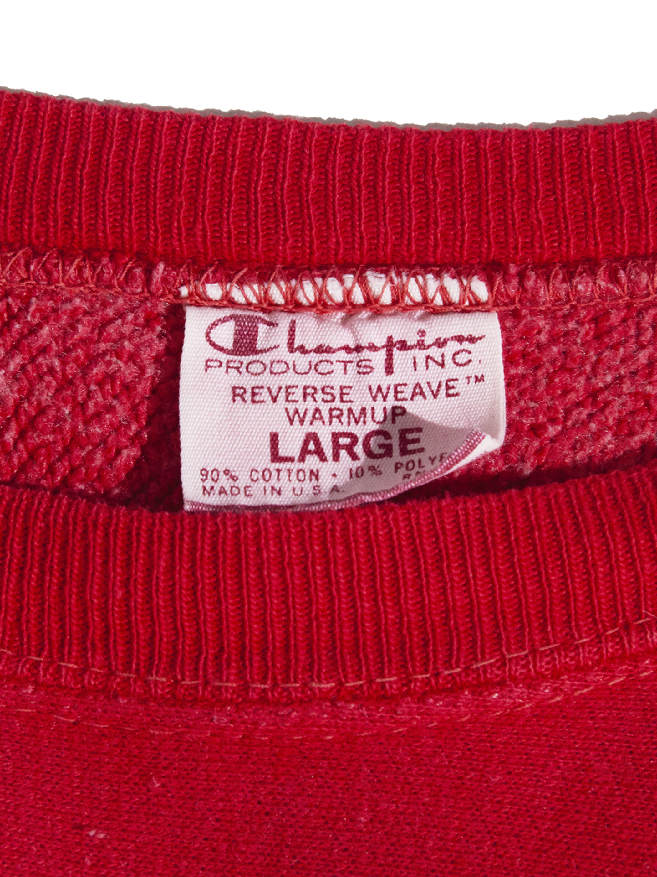 "1970s ""champion"" R/W sweat -RED-"