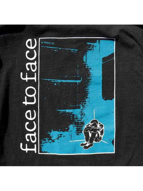 """90's FACE TO FACE """"DON'T TURN AWAY"""" ロングスリーブTシャツ [XL]"""