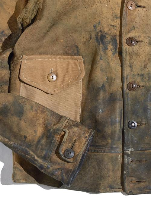"1930s ""unknown"" A-1 type leather jacket -BEIGE-"