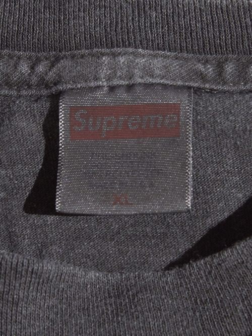 """2000s """"SUPREME"""" L/S blank tee -PIGMENT DYED BLACK-"""