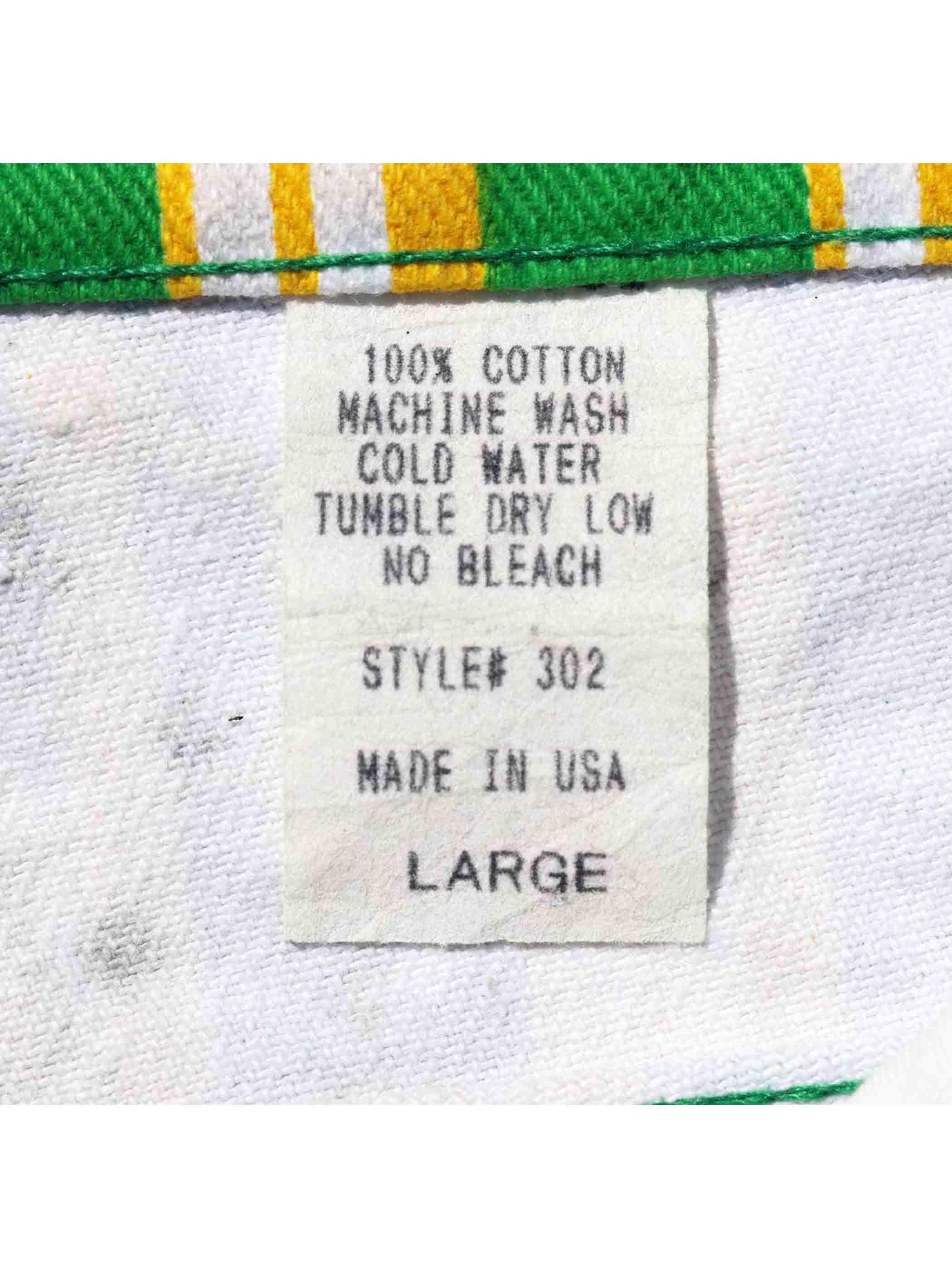 90's~ UNKNOWN USA製 マルチボーダープリント ショートパンツ [L]