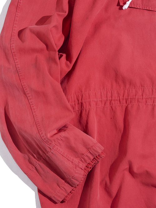 """1960s """"unknown"""" anorak parka -RED-"""