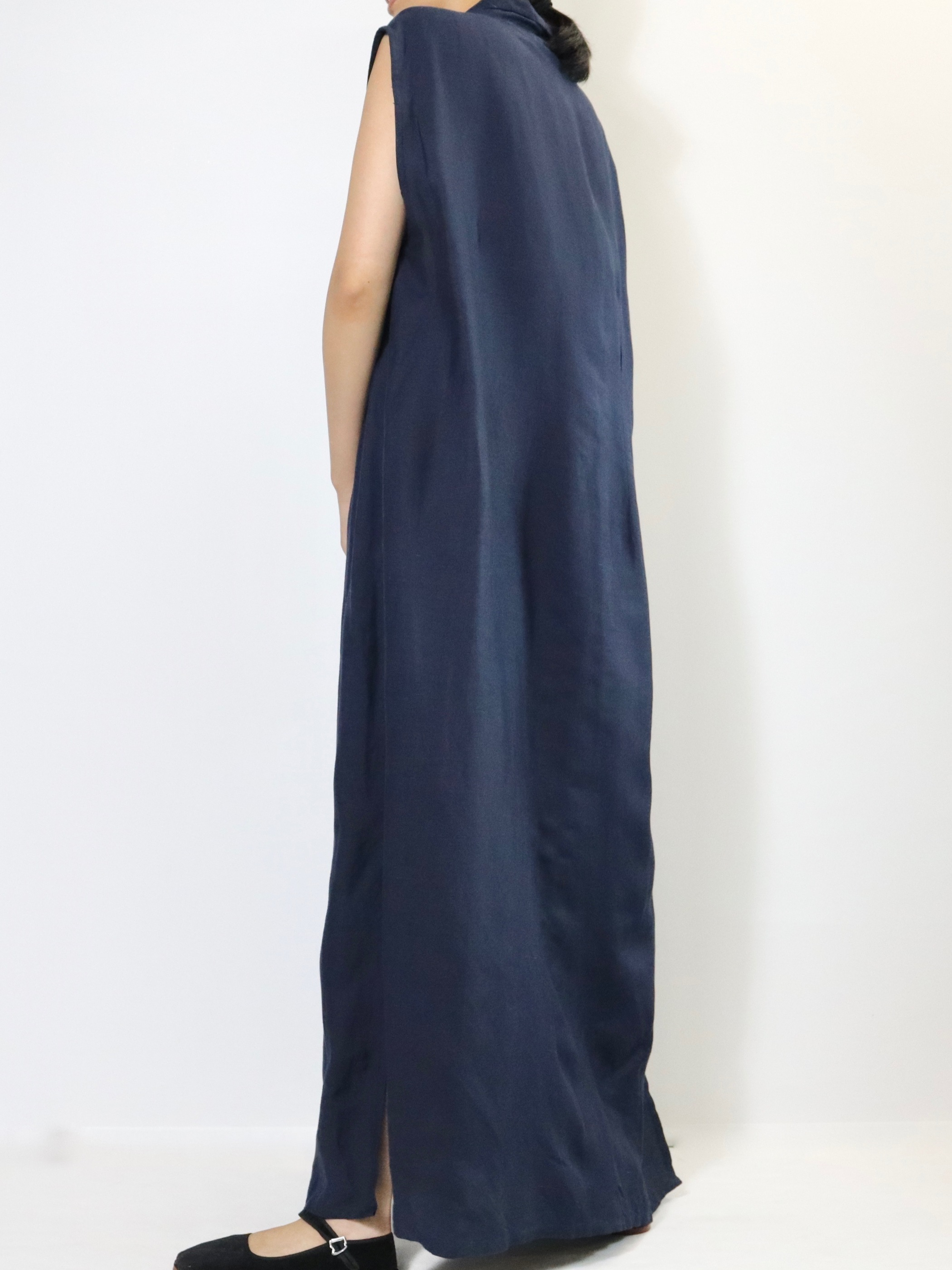 【MARKET】Open collar long one-piece